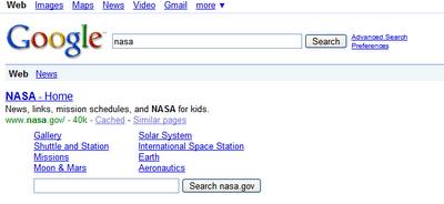 Standard Google Sitelinks